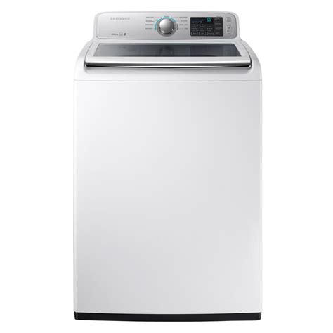Samsung Washer Samsung 4 5 Cu Ft High Efficiency Top Load Washer In White Energy Wa45m7050aw The Home