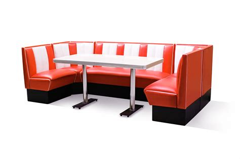 Retro Furniture Diner Booth Set Hollywood 130 X 270 X