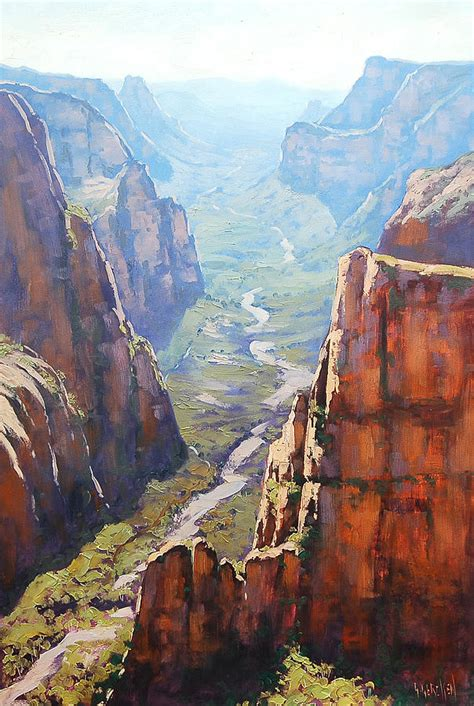 zion acrylic painting zion by graham gercken