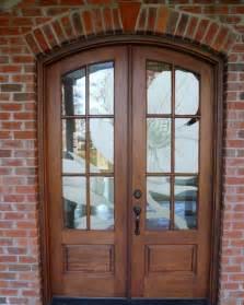 Wooden Front Door With Glass Panels Extraordinary Wooden Entry Doors With Glass Using Raised Door Panels And Antique Bronze