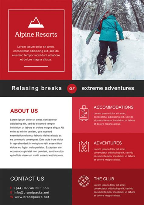 Free Alpine Resorts Business Flyer Template Download For Photoshop Photoshop Flyer Templates Business