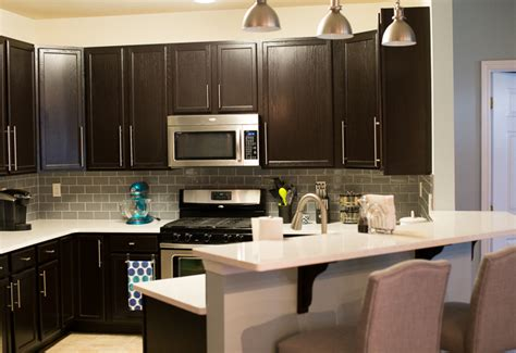 Kitchen Designs With Black Cabinets java gel stain kitchen transformation general finishes