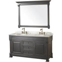 bathroom vanities 60 quot andover 60 black bathroom vanity bathroom vanities bath kitchen and beyond