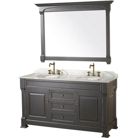 Black Bathroom Vanities 60 Quot Andover 60 Black Bathroom Vanity Bathroom Vanities Bath Kitchen And Beyond