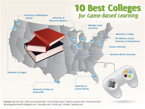 game design major colleges 10 best colleges for game based learning map graphic