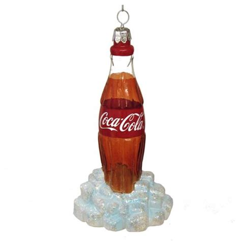 coca cola bottle 5 1 4 inch glass ornament kurt s adler