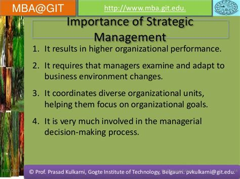 Mba In Strategy And Leadership by Strategic Management