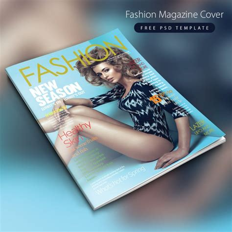 fashion magazine cover free psd template download