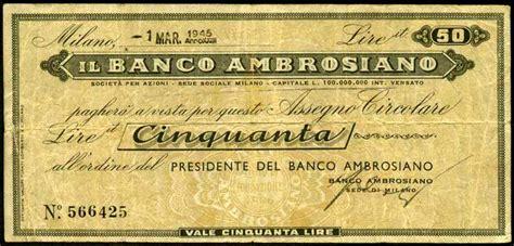 nuovo banco ambrosiano moneta di guerra