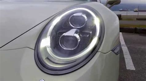 porsche headlights porsche 991 led headlights led clear markers youtube