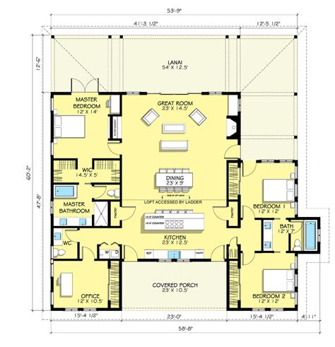 houseplans com farmhouse style house plan 3 beds 2 5 baths 2168 sq ft