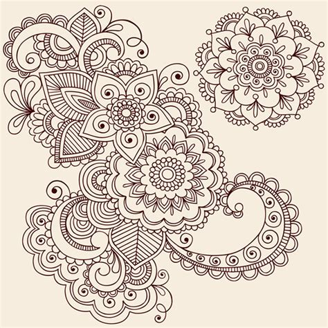 henna pattern vector henna doodles vector designs on behance
