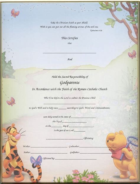 baby christening certificate template christening certificates for godparents blank printed