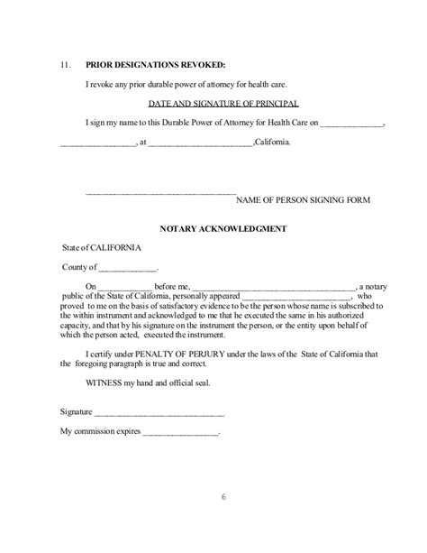 15 Power Of Attorney Forms For California Print Paper Templates Power Of Attorney Template California