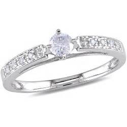 walmart gold wedding rings 1 4 carat t w engagement ring in 10kt white gold