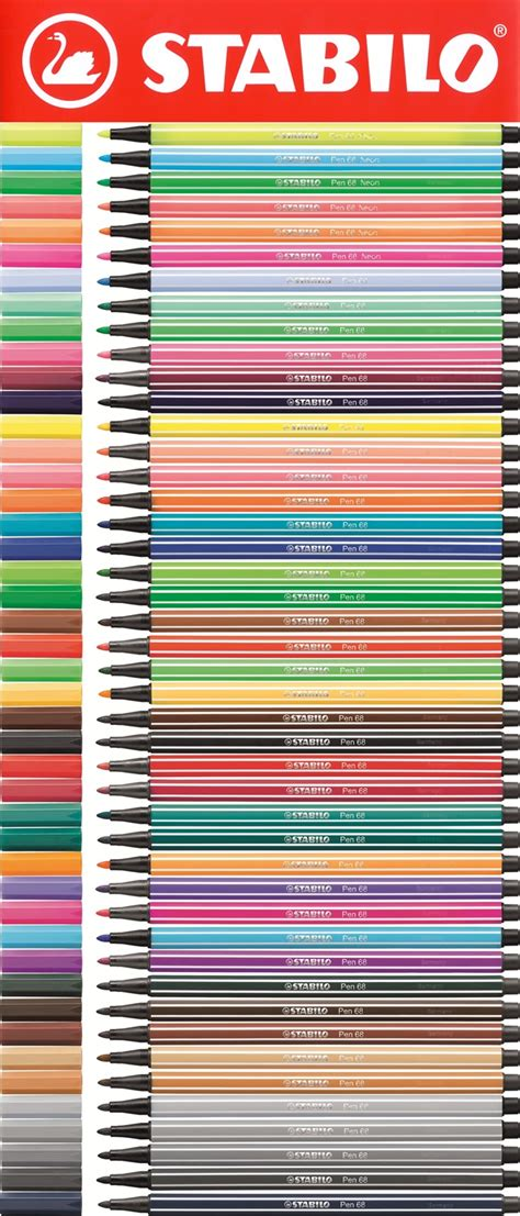 Stabilo Pen 68 Umber stabilo pen 68 fibre tip pens comes in 3 s and 10 s all