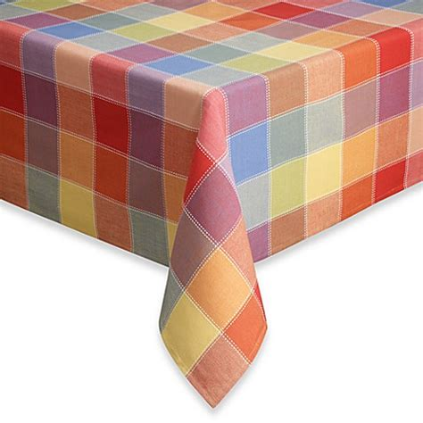 bed bath and beyond tablecloth summer check tablecloth bed bath beyond