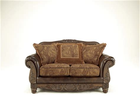 ashley durablend antique sofa fresco durablend antique bonded leather sofa set by ashley
