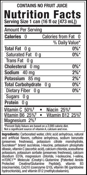energy drink ingredients caffeine in energy drink