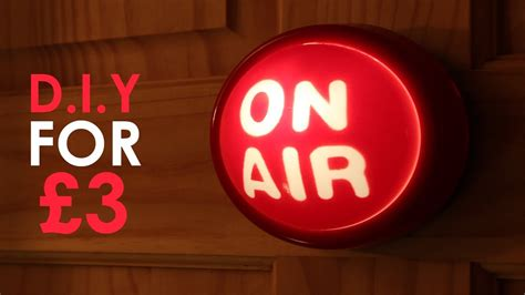 On Air In make an on air studio light for 163 3