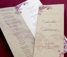 Multi Page Booklet Template by Wedding Day Programs Letterpress Wedding Invitation