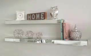mirrored floating shelves add magical sparkle to your home with mirrored