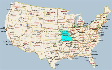 america map missouri midwest usa map