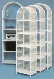 Vintage Beadboard - wicker bookcase wicker etagere bakers rack