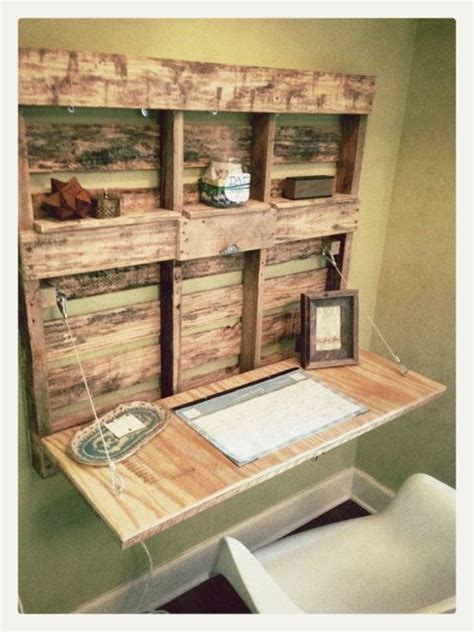 pallet wood fold out desk 23 diy projects