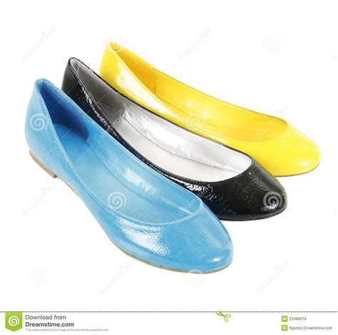 colorful flat shoes colorful flat shoes royalty free stock images image