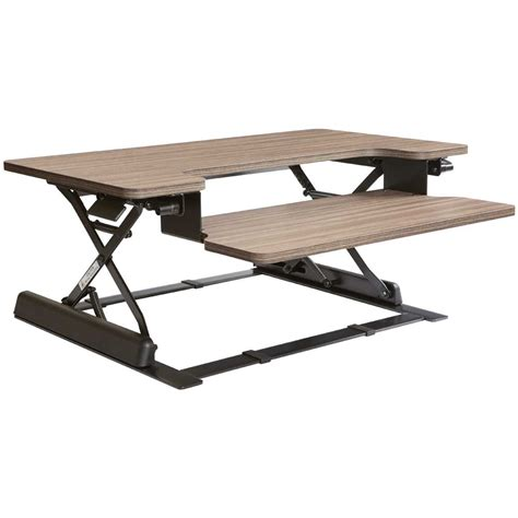 sit to stand adjustable desk riser height adjustable desk riser in desks and hutches