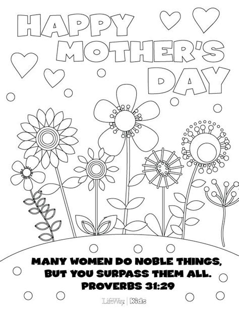 lds coloring pages mothers day print out this mother s day coloring page for your