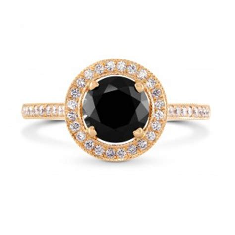 black engagement rings leibish