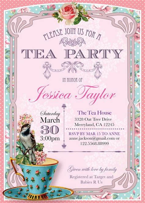 free printable invitations afternoon tea 296 best party high tea images on pinterest birthdays