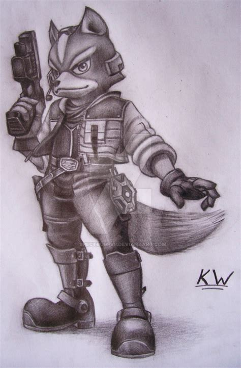 fox mccloud pencil drawing by spectrum vii on deviantart