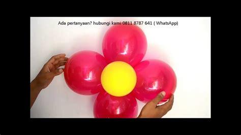 cara membuat dekorasi balon ulang tahun sendiri cara membuat balon bunga super mudah doovi