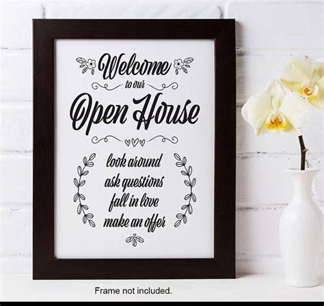 printable open house sign 142 best my print templates images on pinterest