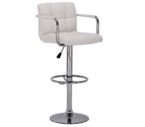 Bar Stool With Arm Rests by Faux Leather Bar Stool With Arm Rests White