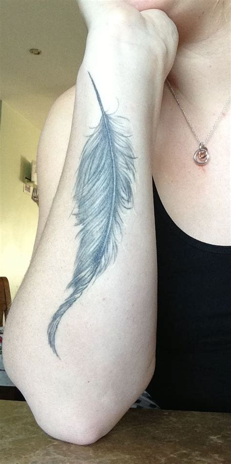 tattoo feather lower arm forearm feather tattoo tattoos pinterest