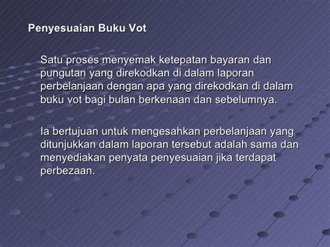 format penyata penyesuaian buku vot 2001 bayaran