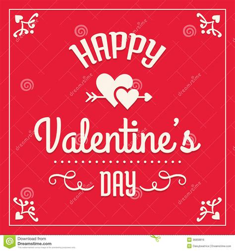template day card happy valentines day card stock vector illustration of