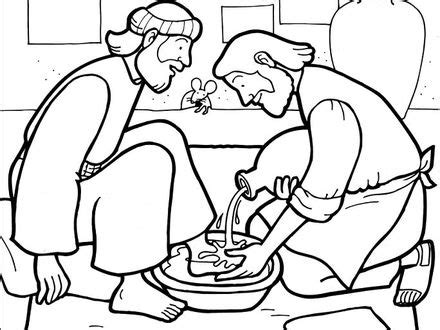 Jesus Washes The Disciples Feet Coloring Page Az Jesus Jesus Washes The Disciples Coloring Page