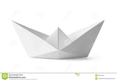 Origami White Paper - white paper boat stock illustration image 40234763