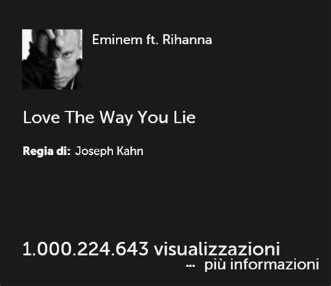 eminem the way you lie testo eminem e rihanna il di the way you lie