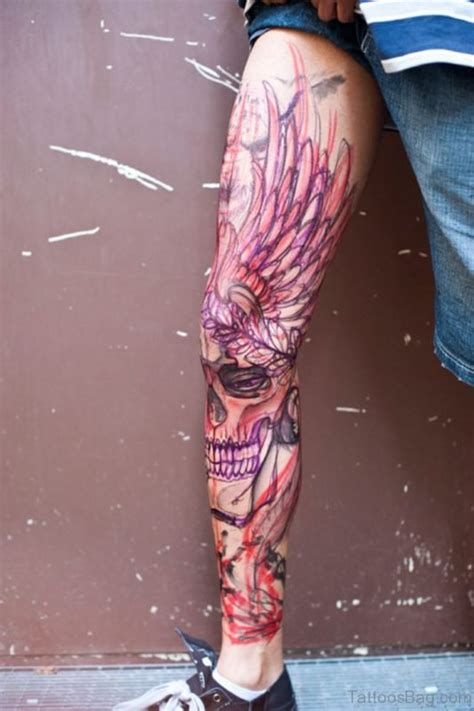 full leg tattoos designs 51 brilliant skull tattoos for leg