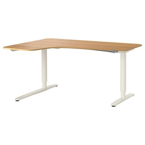 ikea sit stand desk review bekant corner desk left sit stand oak veneer white 160x110