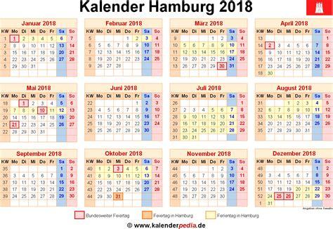 Kalender 2018 Hamburg Schulferien Kalender 2018 Hamburg Ferien Feiertage Excel Vorlagen