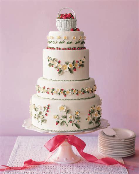 Wedding Cake Assembly by Strawberry Cake Assembly Recipe Martha Stewart Weddings