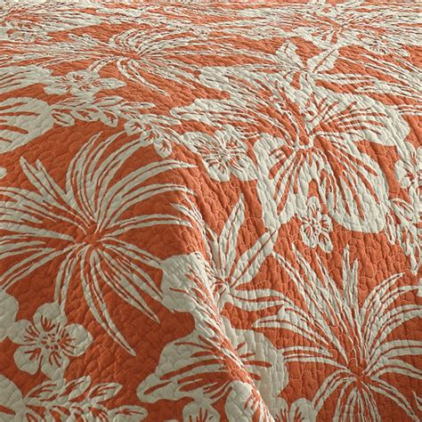 Coral Quilt by Bahama Hanalie Hibiscus Coral Quilt From