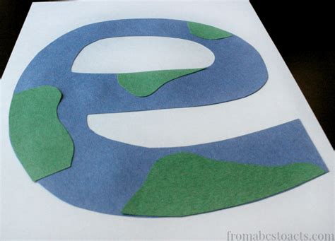 earth craft for preschool alphabet book lowercase letter e from abcs to